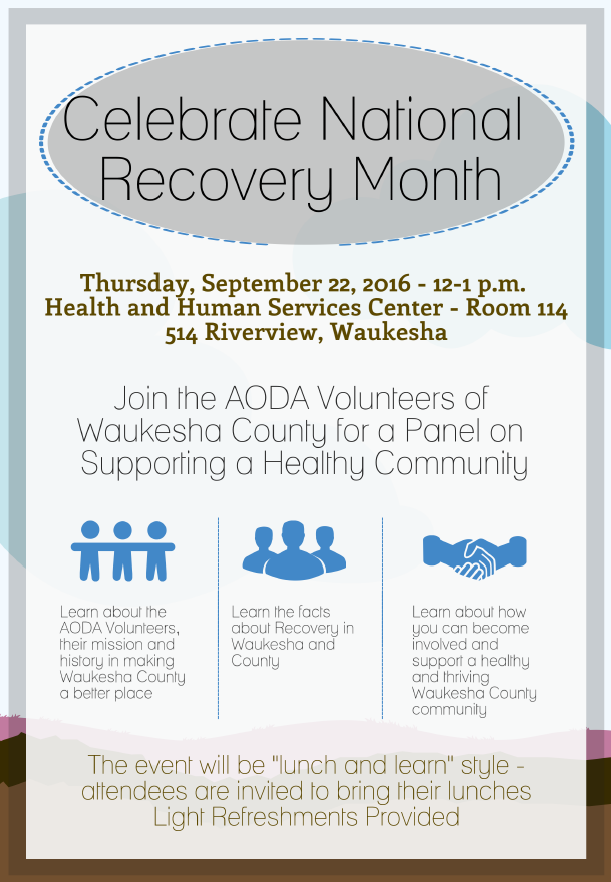 Celebrate Recovery Month 2016 - DHHS Waukesha